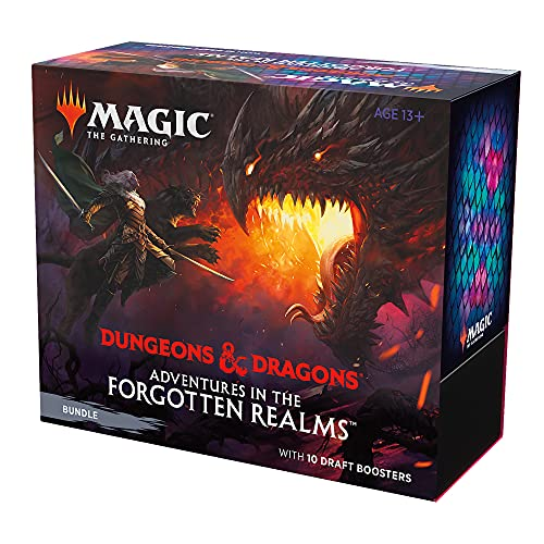 Magic: The Gathering Adventures in The Forgotten Realms Bundle, 10 Draft Boosters & Accesorios