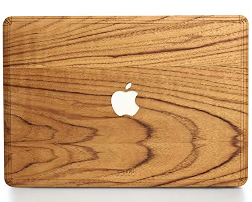 WOODWE® Real Wood Macbook Skin voor Mac 12 inch | Model: A1434 ; Begin 2015 – Mid 2017 | Natural TEAK | TOP&BOTTOM