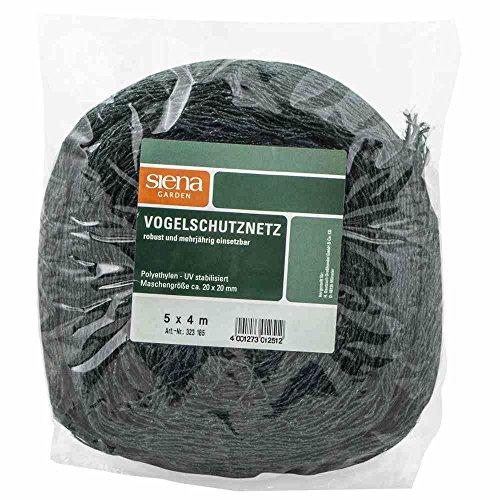 Siena Garden 323185 Vogelschutznetz 4x5m ROBUSTA Farbe: schwarz/grün
