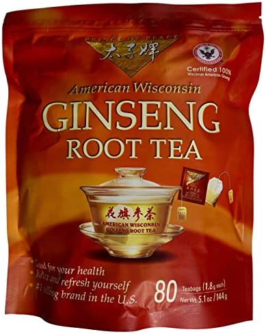 Prince of Peace 100 American Wisconsin Ginseng Root Tea 80 Tea Bags product image