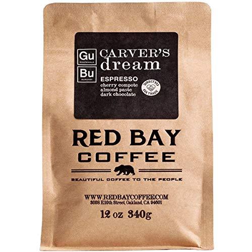 Red Bay Coffee Carver's Dream Whole Bean Espresso - Burundi & Guatemala Coffee - Direct Trade Espresso Beans - Specialty Coffee Whole Bean - 12oz Resealable Pouch of Specialty Coffee Beans