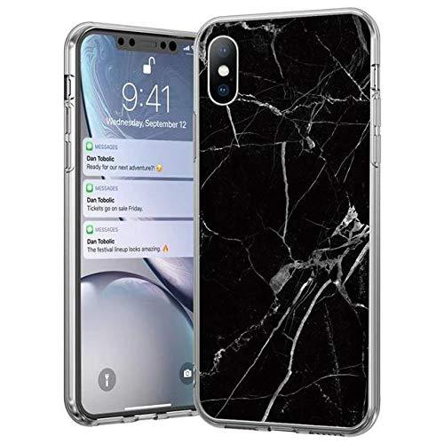 WOZINSKY Marble - Carcasa para iPhone 8 Plus/iPhone 7 Plus, de TPU, diseño de mármol