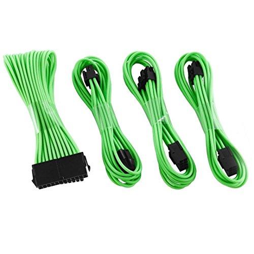 upHere ttmod Sleeved Cable–Cable alargador para alimentación con Extra Sleeves 50cm- Verde...