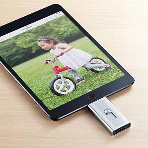 『サンワダイレクト iPhone iPad 対応 microSDカードリーダー Lightning / USB MFi認証 400-ADRIP08S』の5枚目の画像