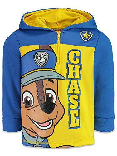 Paw Patrol Chase Little Boys Fleece Half-Zip Sweatshirt Pullover Hoodie Blue 6