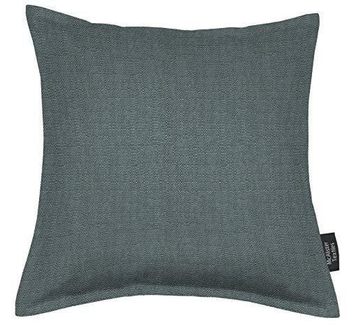 McAlister Textiles Savannah Housse de Coussin et Taie d'Oreiller en Toile Tissé Épaisse - Bleu Jean - 43 x 43cm
