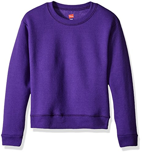 Hanes Girls' Big Girls' Comfortsoft Ecosmart Fleece Sweatshirt, Purple Thora, XL