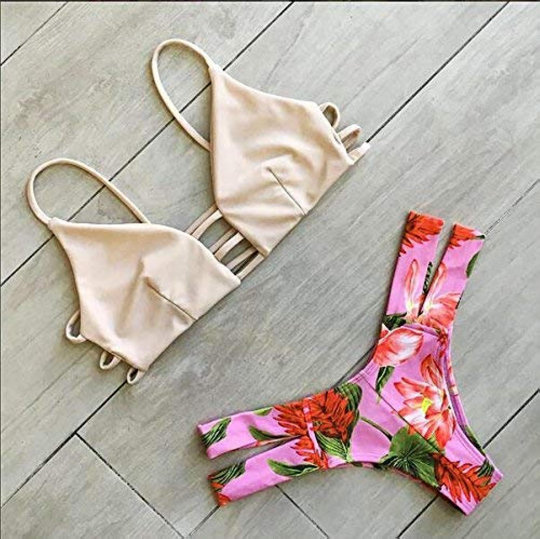Qiusa Qiusa Qiusa Mode-Druck hohe elastische Zweiteilige Halter Damen Bademode Bikinis (Farbe   M, Größe   -) B07PTQ2V2F  Schnelle Lieferung 7f9aca