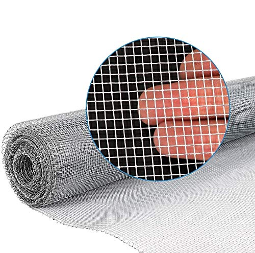 Amagabeli 36in x 50ft 1/8 inch Hardware Cloth 27 Gauge Galvanized Steel Chicken Wire Mesh Roll Fence Mesh Garden Plant Supports Poultry Netting Square Chicken Wire Snake Fencing Gopher Racoons Rabbit