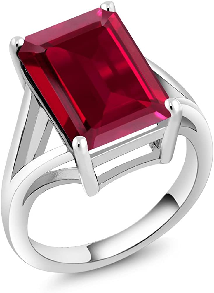 Gem Stone King 925 Sterling Solitaire Silver online shopping Ruby Women Created free
