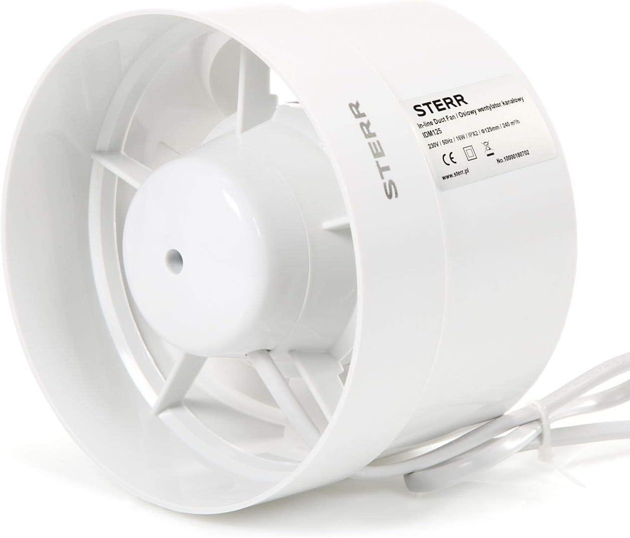 STERR – Rohrventilator Kanalventilator 125 mm – IDM125
