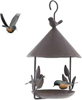 TentHome Mangeoire Maison Oiseaux Suspendue Exterieur en Fonte