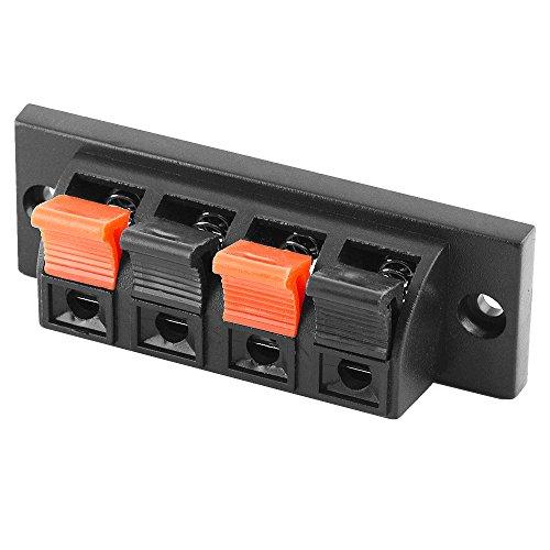 AVE-A Lautsprecher Boxen Terminal für Lautsprecherkabel Boxenkabel 2fach Klemmleiste 4x - 4 fach - zum verschrauben einbauen