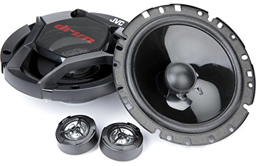 """JVC CS-DR1700C DRVN 360 Watt Series Component Car Stereo Speaker Kit -2-Way Separates, Carbon Mica Cone and Hybrid Surround, 2-6.75"""" Woofers and 2-1"""" tweeters with Integrated Crossover"""