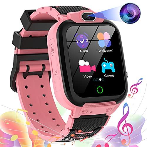 Montre Connectée Enfant, Montre de 16 Jeux avec Appareil Photo 100MP Video Musique MP3 Montre Intelligente Enfants Smartwatch Fille Garçon(Rose)