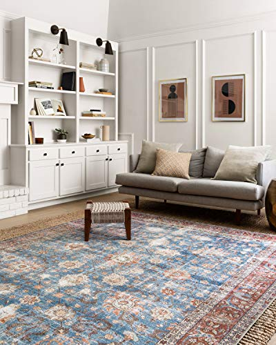 Loloi Loren Collection Teppich, Polypropylen, Blau/Ziegel, 18