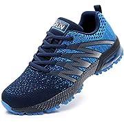 Azooken Herren Damen Sportschuhe Laufschuhe Turnschuhe Sneakers Leichte Fitness Mesh Air Sneaker Straßenlaufschuhe Outdoor(8995 Blue44)