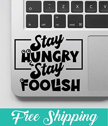 Blijf hongerig verblijf dwaas laptop sticker vinyl muur sticker nieuwigheid grappige sticker voor raam auto glas Decor door DIKSEE, 10cm wide, Meerkleurig