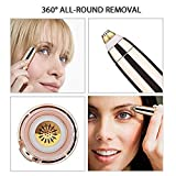 pramukhhub Portable Eyebrow, Face, Lips, Nose Hair Removal Painless Electric Trimmer with Light for...