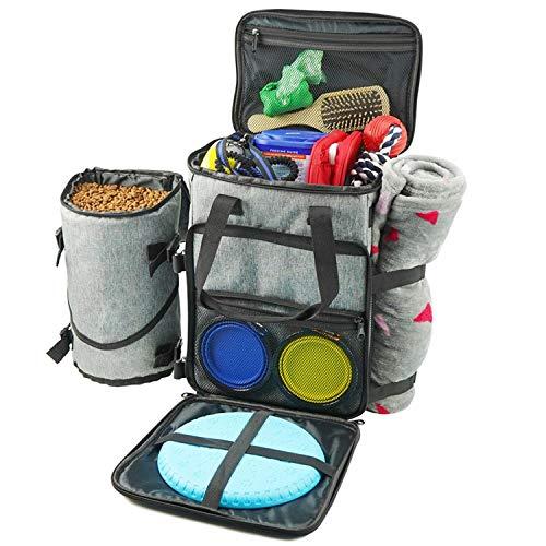 AOIO Reisetasche - Airline Approved Travel Set für Hunde speichert alle Ihre Hundezubehör - Inklusive Reisetasche Lebensmittel Lagerbehälter