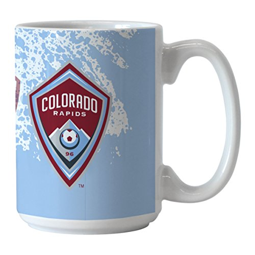 MLS Chicago Fire Sublimated Splatter Mug, 15-ounce