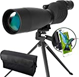 ESSLNB Spotting Scope 25-75X70 Waterproof Spotter Scope with Tripod Phone Adapter and Bag BAK4 Fully Multi-coated Prism for Target Shooting Birdwatching