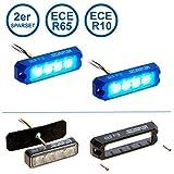 LED-MARTIN 2er Sparset R65 PROFLASH blau - Frontblitzer - Straßenräumer -Blitzmodul - Feuerwehr - Polizei - Rettungsdienst
