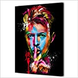 Rjjwai Handbemalte Rocksänger David Bowie Malerei Auf