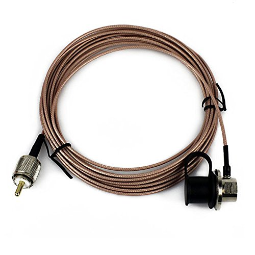 Antenna Cable NAGOYA RC-ECH-316 Pink 5 Meter RG-316 Cover Extension Coaxial Cable for YAESU ICOM KENWOOD Mobile Radios