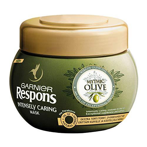 GARNIER Respons, inpackning för torrt och livlöst hår, Mythic Olive Mask, 300 ml