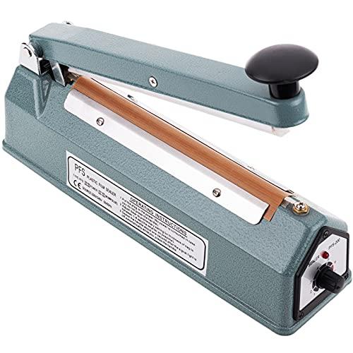 PrimeMatik - Selladora térmica metálica de 20 cm para Bolsas de plástico