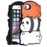 TopSZ Bears Case for iPhone 5,5C,5S,Silicone 3D Cartoon Hero Animal Gel Cover,Kids Girls Teens Boys Man Animated Cool Fun Cute Kawaii Soft Rubber Funny Unique Character Cases for iPhone 5