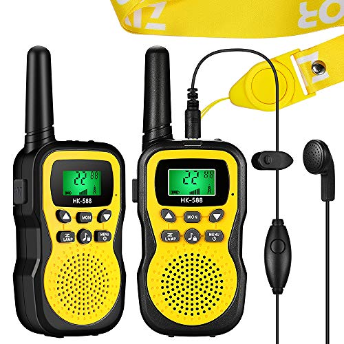 ZIYOR Walkie Talkies for Kids, 22 Channels 2 Way Radio Long Range Voice Activated Kids Walkie Talkies Toys with Lanyards, Earphones and Built in Flashlight for Gift Indoor Outdoor Play Adventure