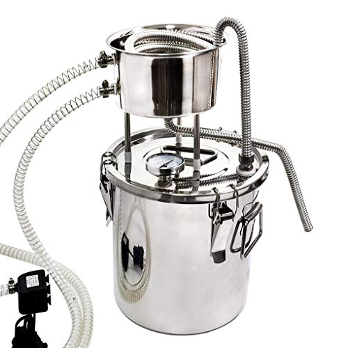 Kit de destilador de alcohol de 20 L Moonshine Still Home de acero inoxidable 304 para hacer vino con bomba