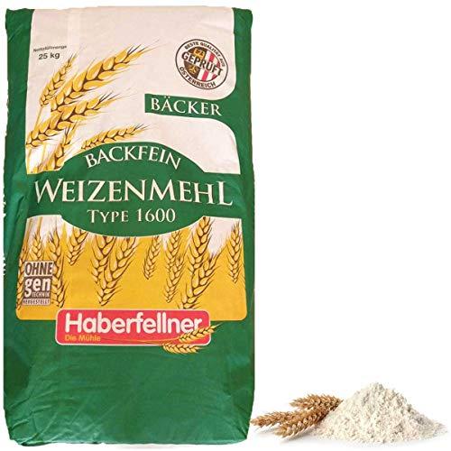 Haberfellner Weizenmehl Type 1050 / W1600 Mehl GVO-frei Bäckereiqualität 25 kg