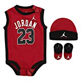 Nike Jordan Infant Jumpman Air 23 3 Piece Set (Red(LJ0208-R78/Black, 0-6 Months)