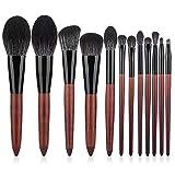 Fanxp 12Pcs Set de pinceles de maquillaje multifuncional, polvo suelto Blush Eyeshadow Highlight Brush Lady Beauty Tools