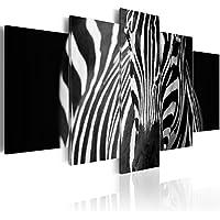 ZDFDC Carteles e Impresiones Modernos Modernos de Cebra Dorada y Negra Arte de la Pared Pintura de la Lona Cuadros de Pared para la decoraci/ón de la Sala de estar-60x90cmx1 sin Marco