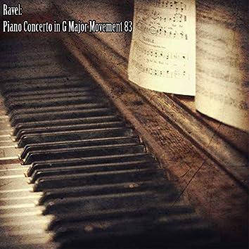 Ravel: Piano Concerto in G Major Movement 83