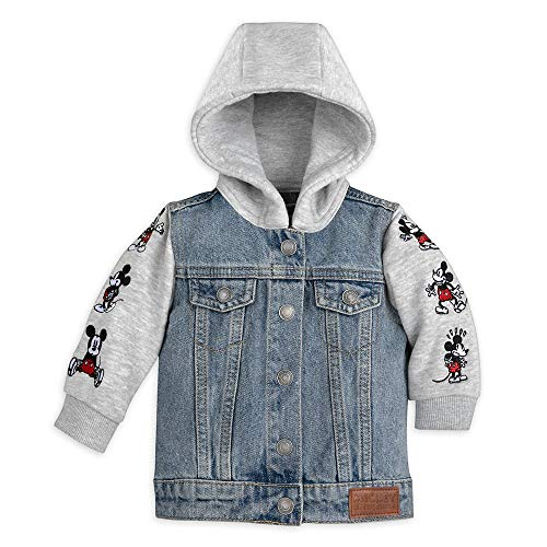 Disney Mickey Mouse Hooded Denim Jacket for Baby, Size 9-12 Months