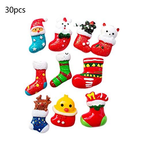 Hothap 30PCS / tas DIY hars kerst thema telefoon geval koelkast sticker decoratieve accessoires voor festival cadeaus decoratieve accessoires (eerste foto)