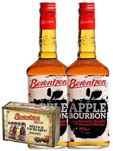 Berentzen Apple Bourbon Whisky 2 x 0,7 Liter + 10er Magazin Gratis