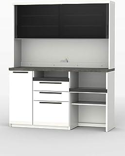 パモウナ 食器棚SY プレーンホワイト 幅160×高さ198×奥行45 日本製 SY-S1600R