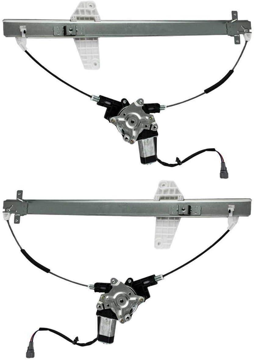 TYUT 2pcs Rear Left+Right Window Rare Regulator R w 4 years warranty Replacement Motor