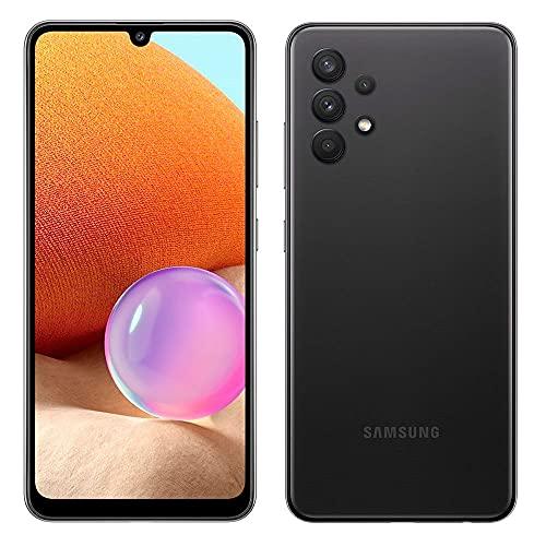 """Samsung Galaxy A32 Preto, com Tela Infinita de 6,4"""", 4G, 128GB e Câmera Quádrupla de 64MP+8MP+5MP+2MP - SM-A325MZKKZTO"""
