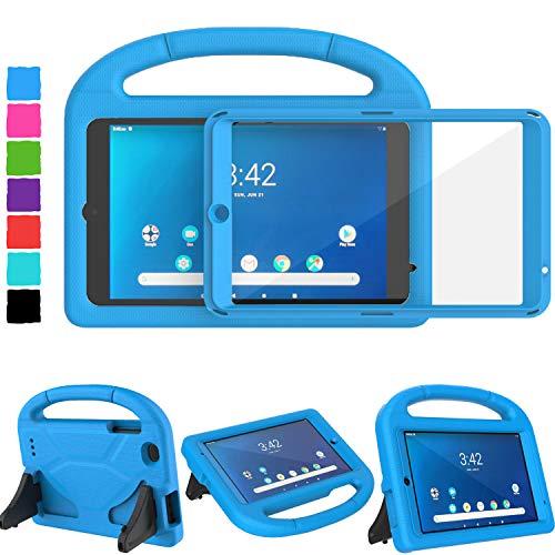 "TIRIN Walmart Onn 8 Inch Tablet Case, Onn 8 Tablet Case for Kids, Built-in Screen Protector Lightweight Shockproof Handle Stand Kids Case for Walmart Onn 8"" Tablet 2019 ONA19TB002 NOT for 2020, Blue"