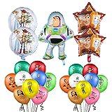 Decorazioni di Compleanno Toy Story Compleanno Palloncini 23 Pezzi Foglio di Alluminio Palloncino per Bambini Regalo Decorazione per Feste a Tema