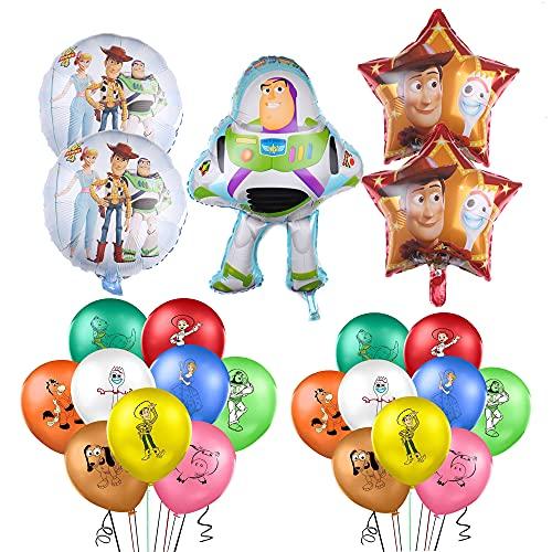Decoración de Fiesta de Cumpleaños Toy Story 23 Piezas Cumpleaños Globos de Toy Story Globos de Aluminio para Niños Decoraciones de Fiestas temáticas