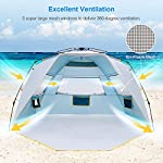 WolfWise 4-5 Person Easy Up Beach Tent UPF 50+ Instant Sun Shelter Canopy Outdoor Sport Umbrella Sun Shade Tent with… 7
