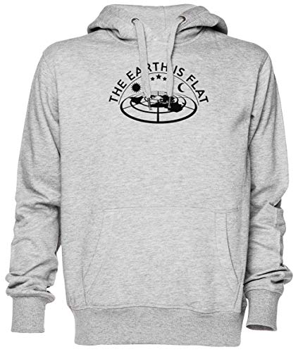 Flat Earth Model Gris Jersey Sudadera con Capucha Unisexo Hombre Mujer Grey Unisex Hoodie